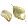 Glass 19x13mm Baroque Green Luster